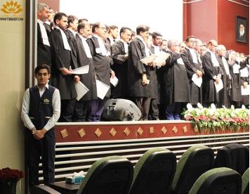 مراسم تحلیف وکلای کانون وکلا دادگستری مشهد