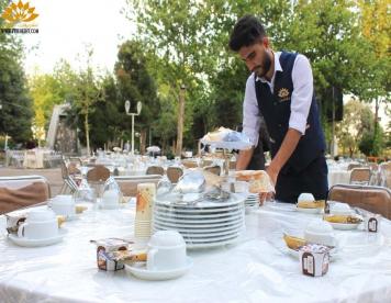 مراسم افطاری در دانشگاه خیام , پذیرایی از مدیران و اساتید دانشگاه های مشهد