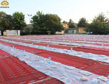 مراسم افطاری در شرکت مهام شرق با 2500 نفر مهمان