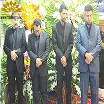 تشریفات بهشت مشهد ارائه دهنده خدمات مجالس ترحیم به خانواده محترم باقرزاده